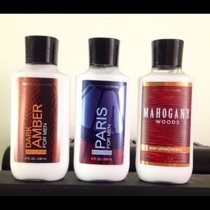BAth and body works men's body Lotions